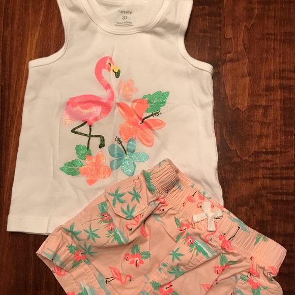 87b95d7c0 Carter's Matching Sets   Carters Flamingo Matching Set   Poshmark